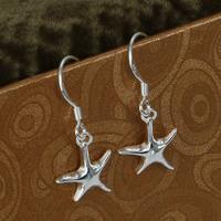 E090 Wholesale 925 silver earrings, 925 silver fashion jewelry earring Seastar Earrings