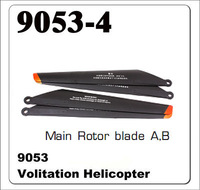 2X DH 9053 RC helicopter spare parts Accessories volitation parts blades Main Rotor 4pcs free shipping wholesale