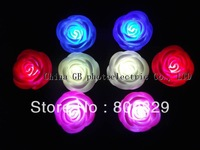 FreeShipping 72pcs/lot LED rose flashing rose color changing candle light led rose light