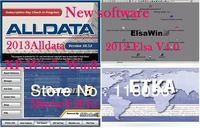 2013 Hot selling  alldata 10.52, Mitchell  2013, ETKA,  Elsawin 4.0 all data elsa Auto repair software in a external hard disk