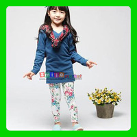 SMILE MARKET Hot selling!!! Free shipping  Print Flowers Leggings for Girl Children (Size: S,M,L)