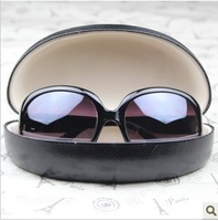 Cool black portable Large senior sun glasses case black sunglasses case