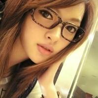 Vintage glasses big black box around the non-mainstream leopard print eyeglasses frame plain glass lens