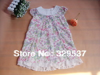 Free shipping brand 2014 Spring& summer fashion children Girls Princess Dress 100%Cotton Flower multi-layer Dress YZG-001