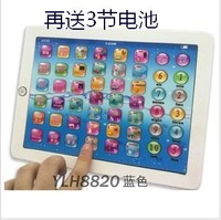 Original child learning machine tablet touch screen pre-teaching baby educational toys Pink and Blue Mixed,Music and Led Light