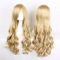 curly hair wig 80 cm/air volume/high temperature silk, golden curly hair COS anime
