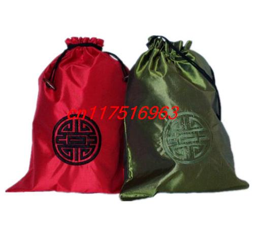 Free Shipping Wholesale 20pcs Chinese Handmade Embroidery Shoe Bags Satin(China (Mainland))