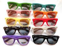 Hot Sales Colorful Kids Candy Color Children Sunglasses Wayfarer Baby Size Sun Glasses Mixed  Colors Value Wholesale 20pcs/Lot
