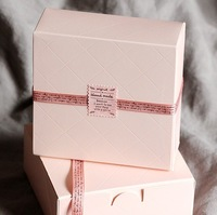 Pink Diamond lattice Food gift Boxes,Cake Biscuit Packaging Box,FREE SHIPPING