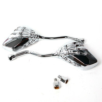 Free shipping Universal Motorcycle Silvery Scooter modification Skull Craw Shadow Rearview Mirrors Pair 8mm 10mm