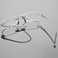 Frameless Rimless Bifocal Reading Glasses Reader Eyeglasses Men Women Unisex Case +2.50