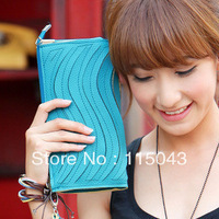 Free Shipping 2013 Promotion Low Price Good Quality Candy Color PU Leather Ladies Wallets Mini Day Clutches Women Evening Bags