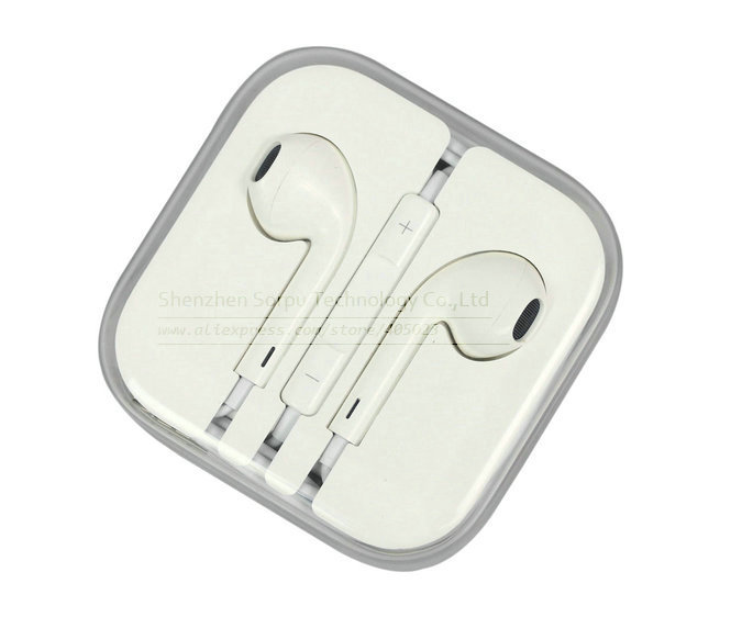 3.5mm Stereo Earpods With Volume Control & Mic Earphone For Iphone 5, Iphone 4S, Ipad, Ipad Mini, Ipod(China (Mainland))