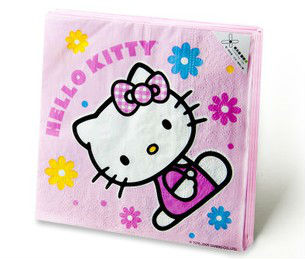 20 x Hello Kitty Napkin Serviettes Box Facial tissue Birthday Cake Kids Party Table Decoration New(China (Mainland))