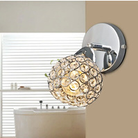 Brief modern crystal wall lamp ofhead mirror balcony lamps frha b51