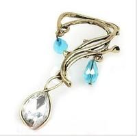 2014 vintage female glass stone drop ear cuff