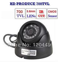 The Video Cameras 1/3 Color Cmos 700 TVL,24 LEDs Dome Camera CMOS IR Dome CCTV Camera Free Shipping