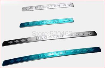 Stainless steel Door sill scuff plate for vw Volkswagen Magotan  B6
