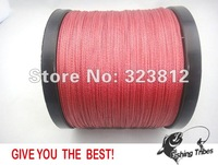 new 2014 Wholesale - free shipping  red  dyneema braided fishing line fishing tackle 1000M