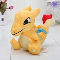 5.5'' NEW Wholesale Retail Janpanese Anime Pokemon Plush Toys Sale Cartoon Charizard Stuffed Animal Dragon Dolls Free Shipping