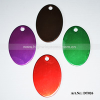 Free Shipping(Hot sale!!) New design Oval Shaped Pet Tag,size:38*25*1mm Aluminum pet tag,random colors  4colors/500pcs/Lot