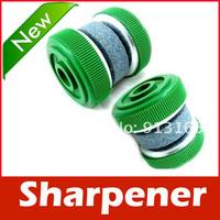 Knife Sharpener Stone Abrader w/ Two Grinding Wheels