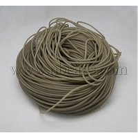 Closeout Synthetic Rubber Cord,  Luminous,  No Hole,  LightGrey,  Size: about 4mm diameter,  130m/2000g