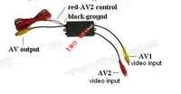 camera switch. two way car camera video switch,Input VCD/DVD/MP4/parking sensor / rear view camera,Intelligent video switcher