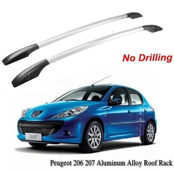 Fit Peugeot 206 207 Aluminium Alloy Roof Rack Car-top Racks No Drilling BLACK 1.2m