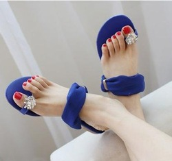 2013 NEW ! Sexy Women Flat Sandals For Lady Flats And Women Slipper &amp; Black,Blue,Beige PDX89 Free Shipping(China (Mainland))