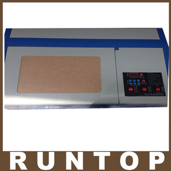 Freeshipping 110/220V 40W  200*300mm Mini CO2 Laser Engraver Cutting Machine 3020 Laser with USB Sport