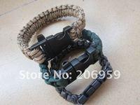 Selling sports outdoor emergency bracelet, 100 packets of survival bracelet 550 strain