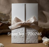 Free Shipping Chinese style fashion white brief invitation cards wedding invitations invitation card posted commercial