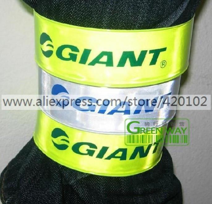 Bicycle Reflective Gaiter, Giant Riding Pants Light Reflecting Clip, Cycling Band Leg Wrappings dropship(China (Mainland))