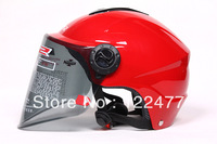 LS2-OF108-red color. motorcycle helmet . half helmet open face helmet,  safety helmet,