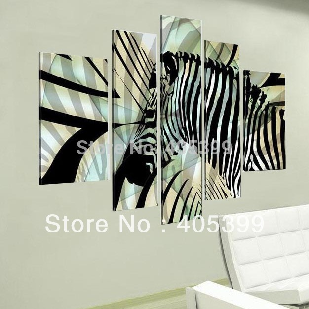 Black And White Color Zebra Painting ! Real Handmade Modern Abstract Oil Painting On Canvas Wall Art , JYJHS011(China (Mainland))