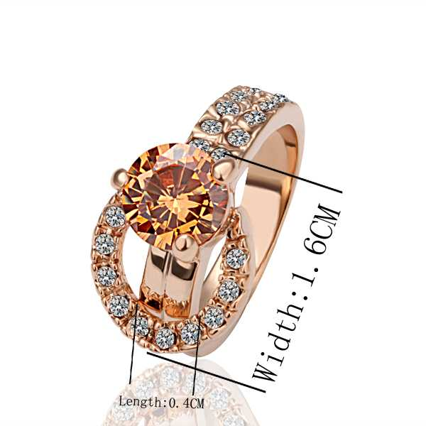 Factory price top quality 18K GP gold plated jewelry crystal ring fashion rhinestone crystal ring free shipping SMTPR002(China (Mainland))