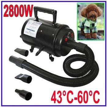 2800W Pet DOG Dryer Groomming Blaster Hair Hand Dryer Two speeds 4 Nozzles