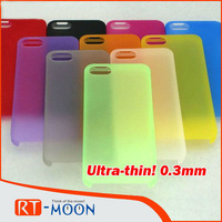 Hot New Free shipping 100 PCS/Lot For iphone 5 case 0.3mm Ultra-thin! transparent case PC lucency  0.3mm transparent Colorful