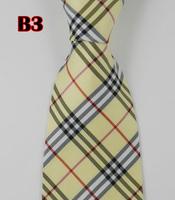 Factory On Sale! 100% Silk Stripe Tie Necktie Classic Man's Ties Necktie Men's suits tie Necktie pinstripe stripe yellow B3