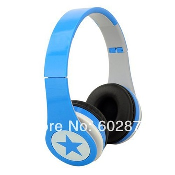Wholesale(6PCS/lot) DHL Freeshipping Mj-8800 Foldable MP3 Wireless Headphones with  TF card slot and FM Radio