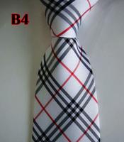 Factory On Sale! 100% Silk Stripe Tie Necktie Classic Man's Ties Necktie Men's suits tie Necktie pinstripe stripe white B4