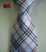 Factory On Sale! 100% Silk Stripe Tie Necktie Classic Man's Ties Necktie Men's suits tie Necktie pinstripe stripe blue B4