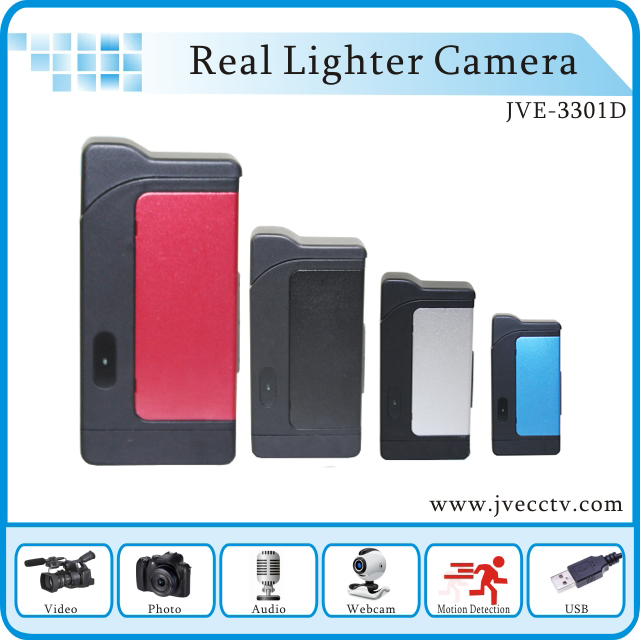 Real New JVE-3301D Photo/Voideo/Audio Functions Webcam Mini Hidden Digital Lighter Camera in Motion Dection(China (Mainland))