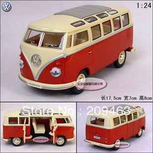 Vw volkswagen classic bus alloy car model free shipping 3 colors