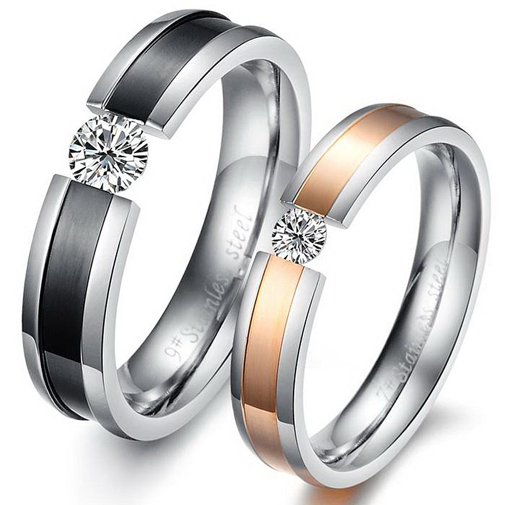 Popular Promise Rings Couple Set Buy Popular Promise Rings Couple Set lots fr