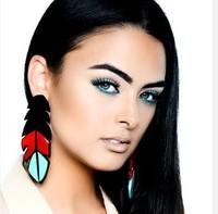 Acrylic London Tropical Leaf Earrings Native Earrings
