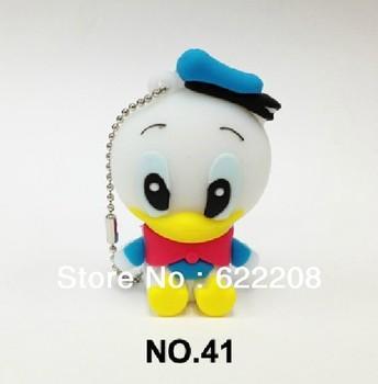 Hot sale wholesale (100pieces/lot) Little duck Cartoon pen drive  ,usb flash1GB,2GB,4GB,8GB,16GB