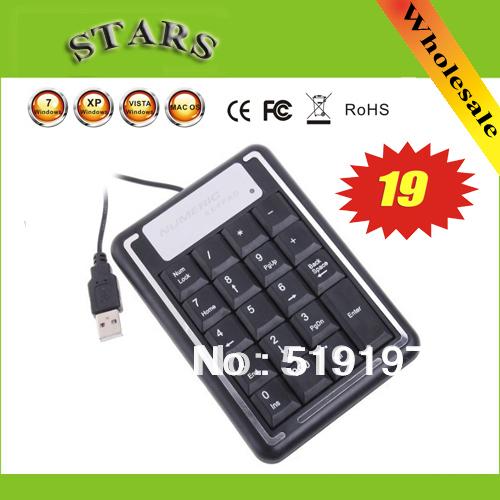 Free shipping wholesale 19 Keys Mini USB Digital Numeric Number Keyboard Keypad for Laptap& ipad Computer Keyboard(China (Mainland))