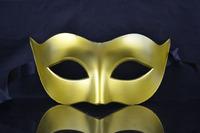 5pcs/lot Free shipping harf  face Mens halloween mask masquerade mask party masks venetian mask-gold